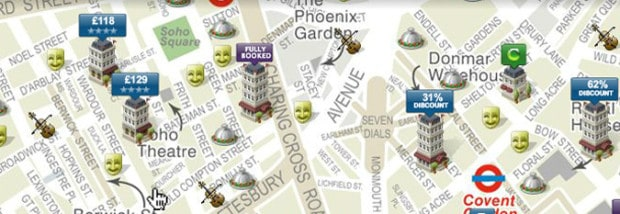 &Meetings Meeting Rooms London: Map of nearby hotels in London
