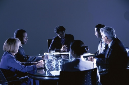 Meeting Taking Place in a Dark Room