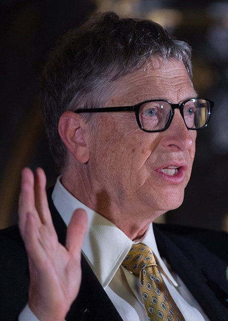 Close up of Bill Gates