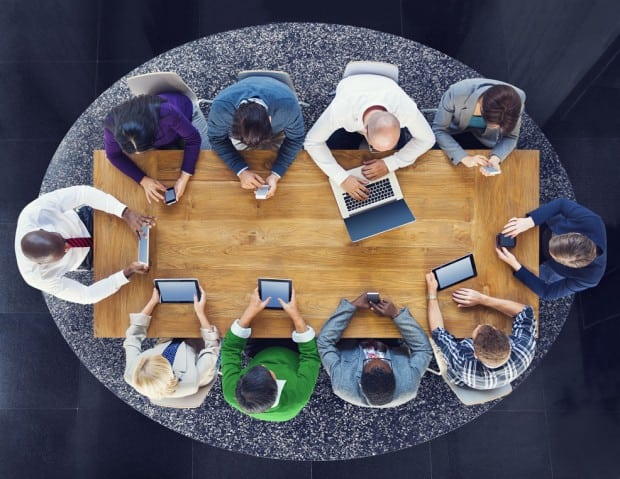 Birdseye view of a Meeting