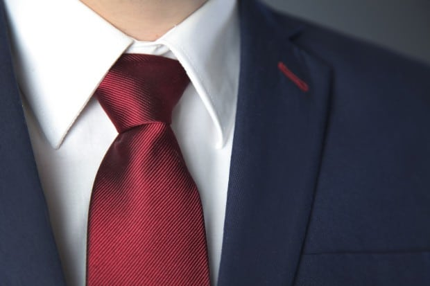 Close up of a Suit and tie