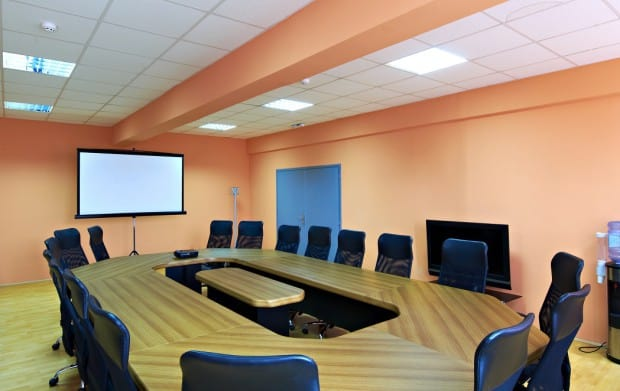 Large Bright Coloured Modern Conference Room