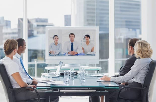Business People in a Video Conference Meeting