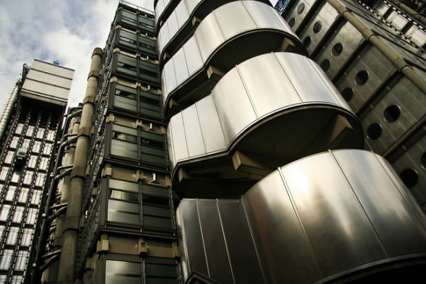 Close Up View of the Lloyds Building