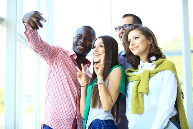 A Group of People Posing for a Selfie
