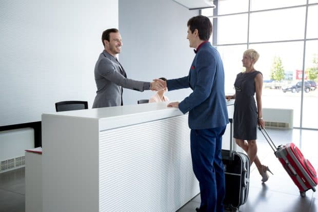 Shaking Hands at Reception