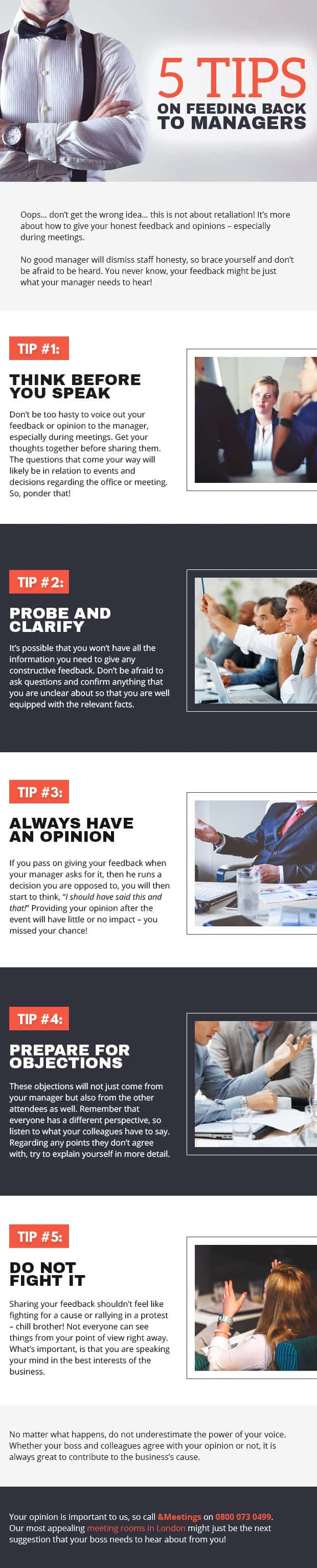 Infographic: 5 Tips on Feeding Back to Managers