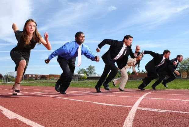 Business People at Running Track