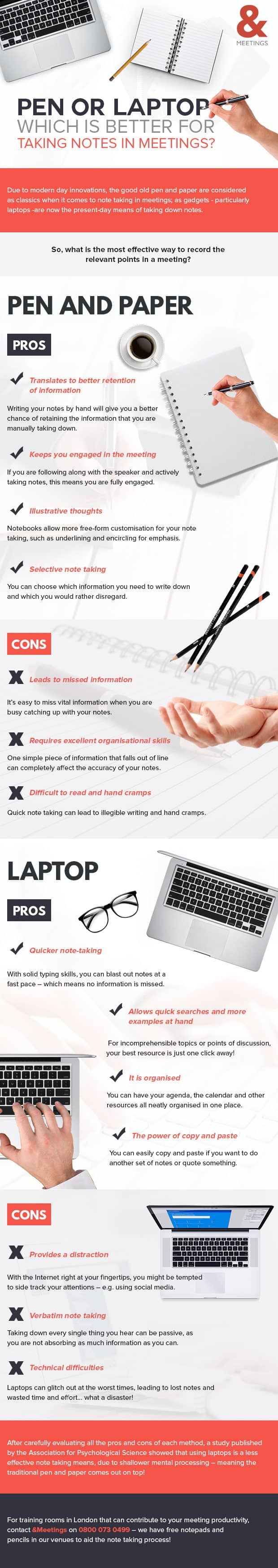 Infographic: Pen or Laptop: Which is Better for Taking Notes in Meetings?
