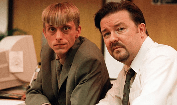 David Brent and Gareth Keenan from The Office