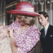 HRH Princess Diana with Prince William at his Christening as Prince Charles looks on