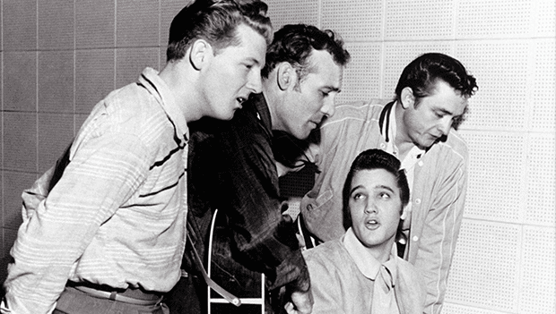 Million Dollar Quartet: Elvis Presley, Jerry Lee Lewis, Johnny Cash and Carl Perkins