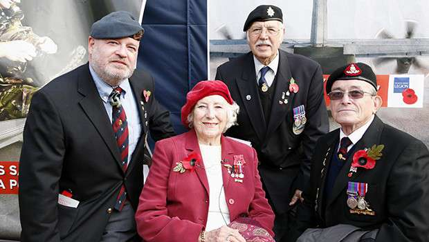 Dame Vera Lynn with Armed Forces veterans