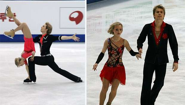 Figure skaters Penny Coomes and Nick Buckland